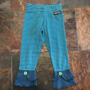 MATILDA JANE striped jersey cropped leggings 8 (K8